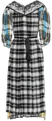 Marc Jacobs Plaid silk dress