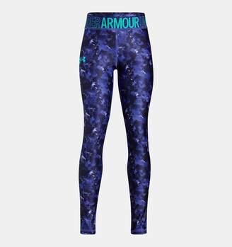 Under Armour Girls' HeatGear Armour Novelty Leggings