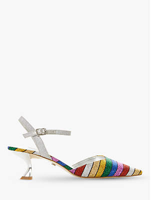 73b43b19bb Dune Doriia Kitten Heel Rainbow Court Shoes, Multi