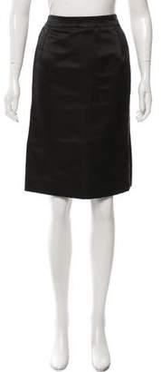 Oscar de la Renta Silk Structured Skirt