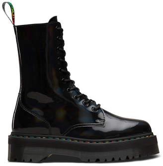 Dr. Martens Jadon Hi Rainbow Patent Boot