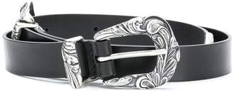 Orciani decorative Western double buckle belt