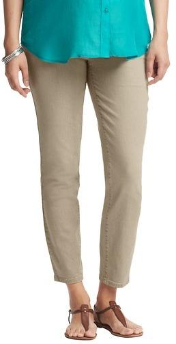 LOFT Maternity Modern Skinny Ankle Jeans in Caramel