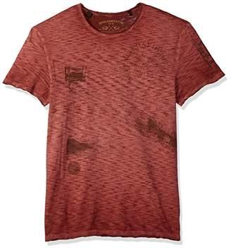 Buffalo David Bitton Men's Toment Short Sleeve Crew-Neck Fashion Graphic T-Shirt