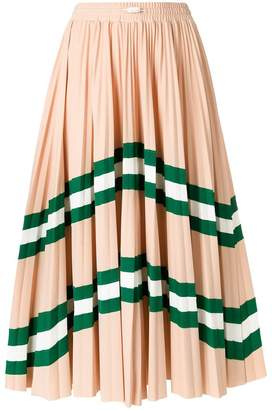 Valentino VLTN patterned pleated midi skirt