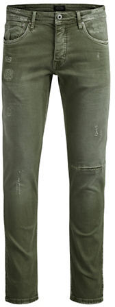Jack And Jones Jack & Jones Glenn Olive Straight Jeans