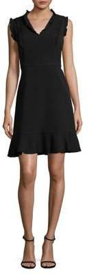 Karl Lagerfeld Paris Flounce Little Black Dress