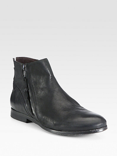 Diesel Thinker Inside Zip Leather Ankle Boots