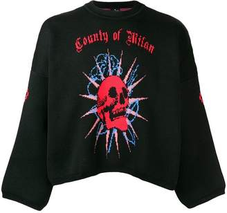 Marcelo Burlon County of Milan logo round neck sweater