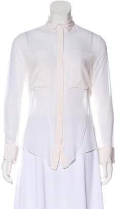 Alexander Wang Silk Button-Up Blouse