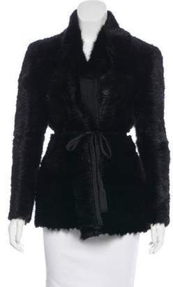 Prada Mink Fur Notch-Lapel Coat