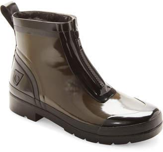 Tretorn Dark Green & Black Lina Zip Short Rain Boots
