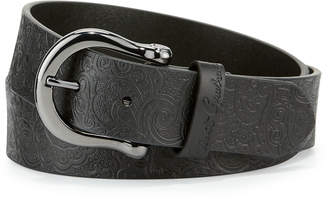 Robert Graham Vince Paisley-Embossed Leather Belt