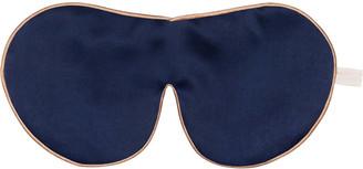 Holistic Silk One Strap Pure Mulberry Silk Lavender Eye Mask - Navy