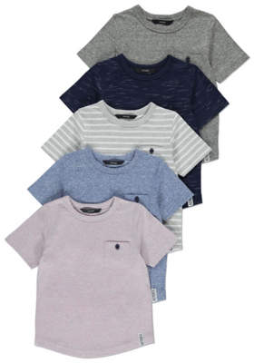GeorgeAssorted T-Shirts 5 Pack