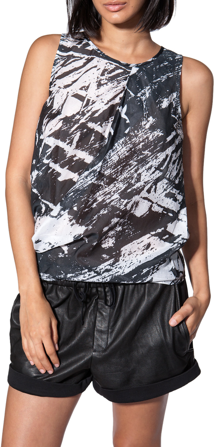 Helmut Lang Pleat Neck Tank Top