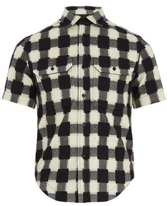 Raf Simons Shrunken-fit gingham-wool shirt