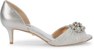 Badgley Mischka Sabine II Ruched d'Orsay Kitten Heels
