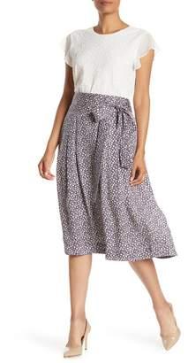 Rebecca Taylor Lauren Floral Print Silk Midi Skirt