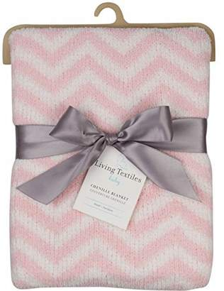 Living Textiles Chevron Blanket, Pink