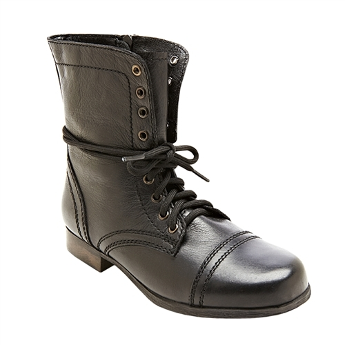 Steve Madden Girl's Troopa Distressed Boot - Black