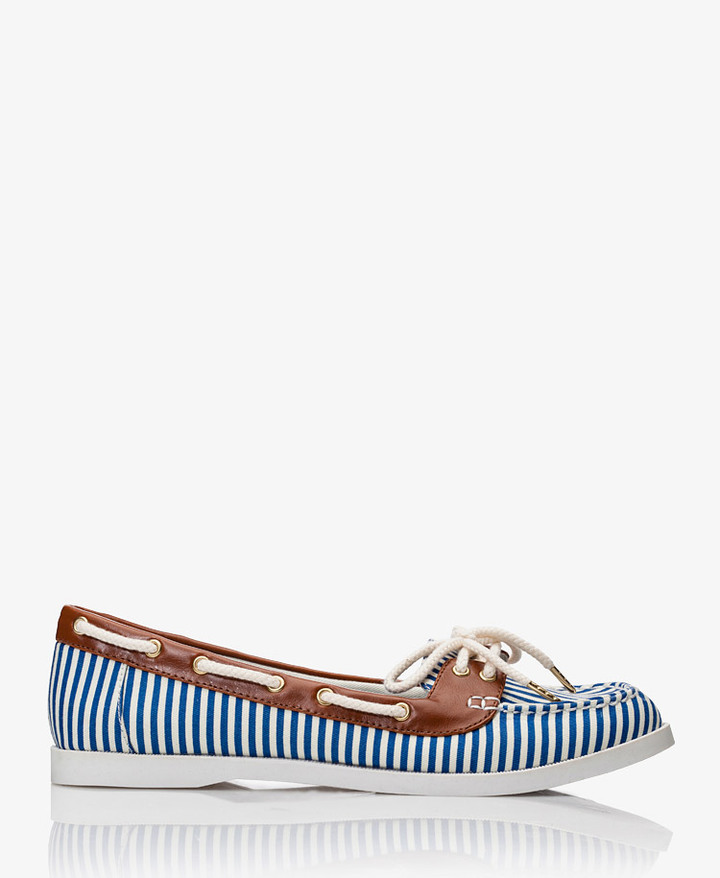Forever 21 Striped Boat Shoes