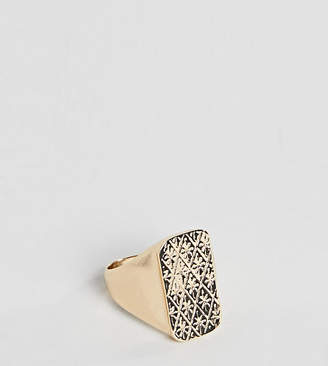 Reclaimed Vintage Inspired Signet Ring In Gold Exclusive To ASOS
