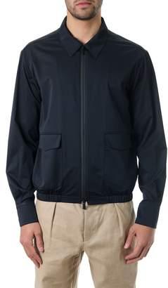 Fendi Black Silk Down Jacket With Elastic Band