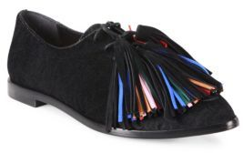 Loeffler Randall Jasper Tassel Calf Hair Oxfords $450 thestylecure.com