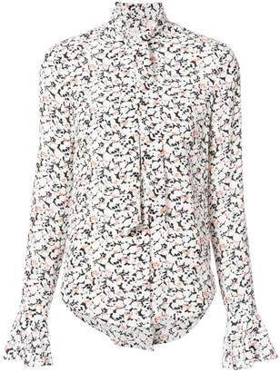 Veronica Beard scarf neck printed blouse