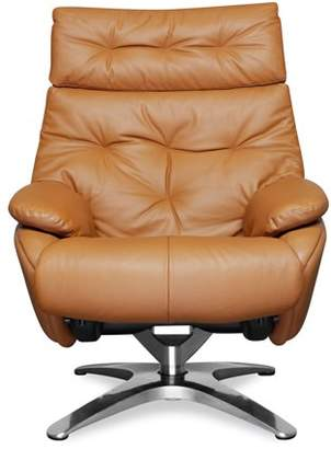 Poly & Bark Poly and Bark Paradigm Leather Lounge Chair with Ottoman in Tan