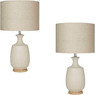Amalfi by Rangoni Marley Table Lamp, Ivory (Set of 2)