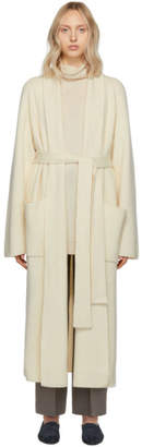 The Row Off-White Cashmere Tappi Cardigan