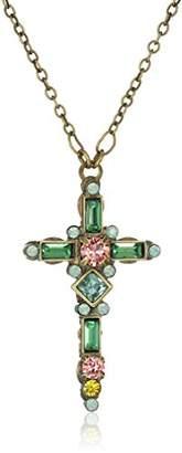 Sorrelli Gem Pop Delicate Cross Pendant Necklace