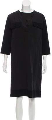 Marni Collarless Rib Knit Dress