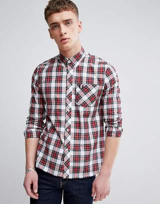 Fred Perry Reissues plaid shirt in red/white