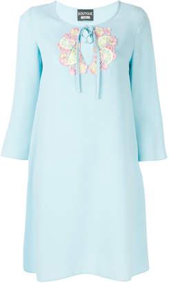 Moschino embroidered neckline dress