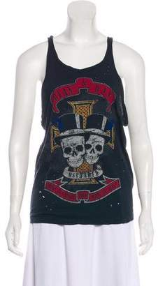 DSQUARED2 Printed Distressed Tank