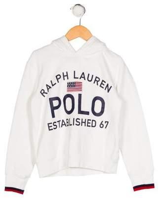 Polo Ralph Lauren Boys' Hooded Long Sleeve Sweatshirt