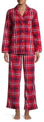 Carole Hochman Two-Piece Plaid Pajama Set