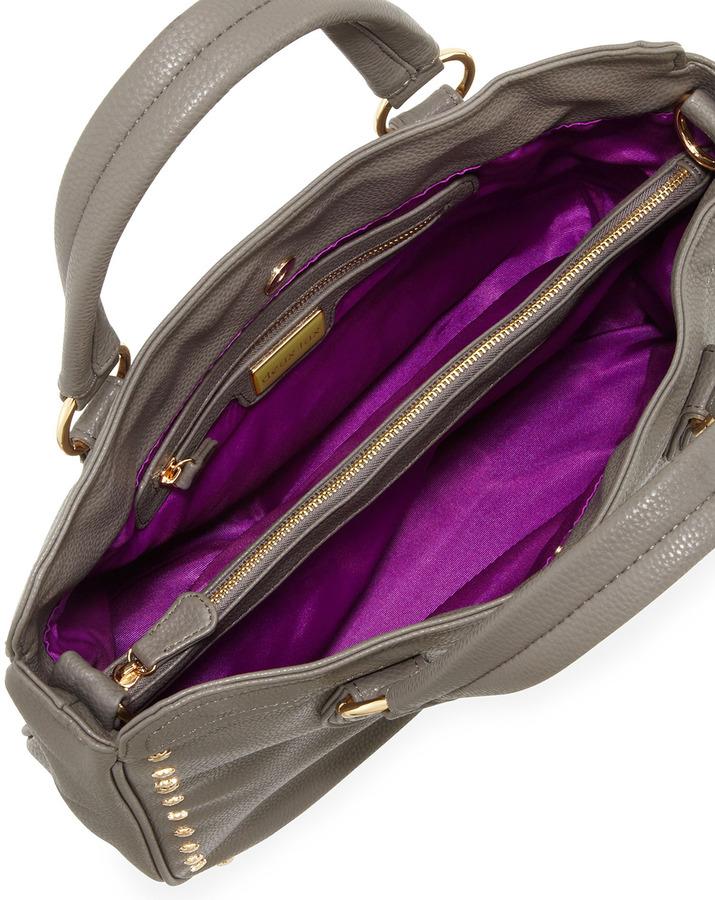 Deux Lux Star Gazer Pebbled Tote Bag, Gray