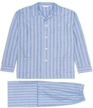 Derek Rose Men's Classic Fit Flannel Pajamas