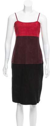 Veda Colorblock Suede Dress w/ Tags