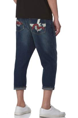 62360448083f Evisu Denim Jeans With Logo And Seagull Print