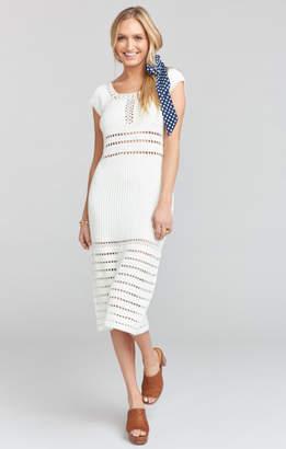 MUMU Crawford Crochet Dress ~ Cream