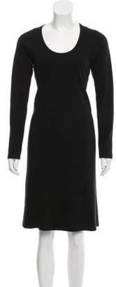 Maison Margiela Long Sleeve Scoop Neckline Dress Black Long Sleeve Scoop Neckline Dress