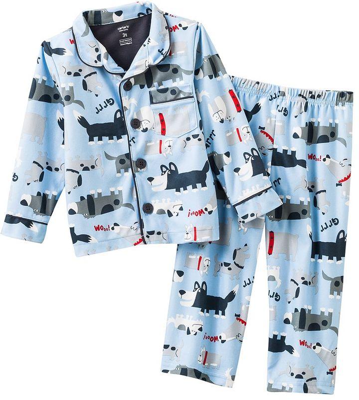 Carter's dog microfleece pajama set - toddler
