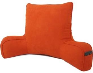 Arlee Oversized Faux Suede Backrest, Orange