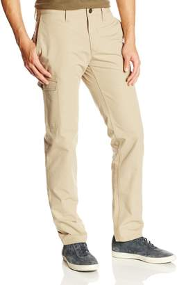Haggar Men's LK Life Khaki Slim Taper Fit Flat Front Canvas Cargo Pant