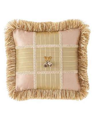 Sweet Dreams Delilah Square Pillow with Butterfly Center